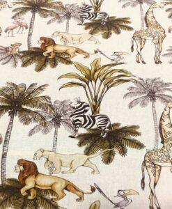 Tissu coton disney roi lion simba