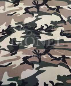 Cotton fabric camouflage elastane