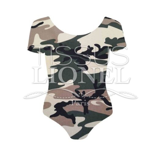 Tissu coton elasthanne camouflage just