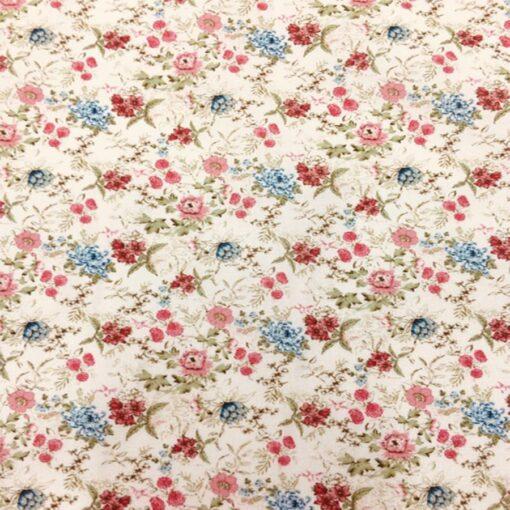 Tissu coton fleuris vintage