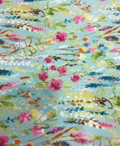 Cotton fabric river of flowers