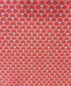 Tissu coton fradji rouge