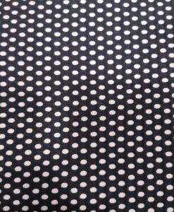 Вафельная хлопковая ткань темно-синего цвета с мелкими белыми точками с обеих сторон
