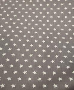 Хлопковая ткань серая звезда