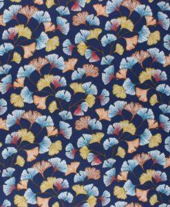 Tissu coton imprimé aphrodite marine
