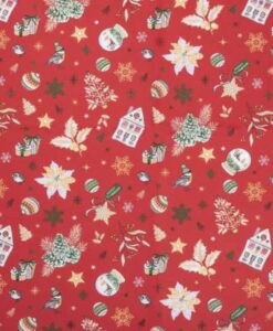 Tela de algodón estampada regalo de Navidad