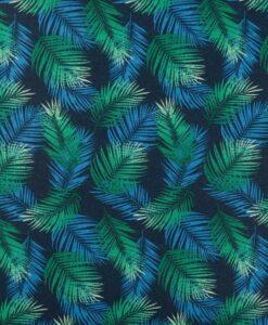Tissu coton imprimé feuille des tropiques