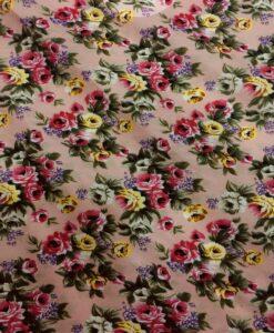 Цветочная принт из хлопчатобумажной ткани маленькая роза на розовом фоне