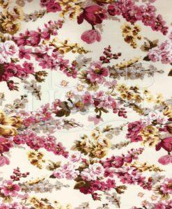 Хлопковая ткань напечатанный розовый цветочек путей