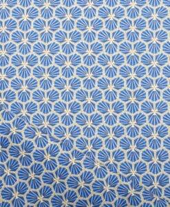 Tissu coton imprimé fradji bleu royale