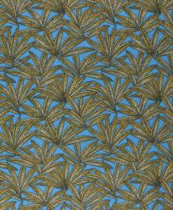 Tissu coton imprimé janaina bleu
