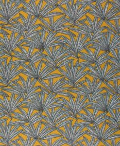 Tissu coton imprimé janaina moutarde