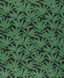 Tissu coton imprimé janaina vert