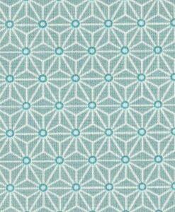 Tissu coton imprimé motif cube géométrique vet d'eau