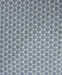 Tissu coton imprimé motif fradji gris