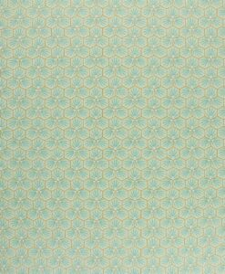 Tissu coton imprimé motif fradji vert d'eau