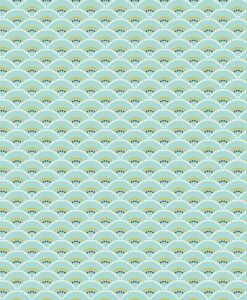 Tela de algodón con motivos sky koji