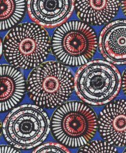 Tissu coton imprimé motif soweto bleu