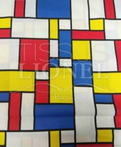 printed cotton fabric new Mondrian