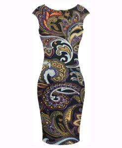 ситец ткань разноцветные Paisley