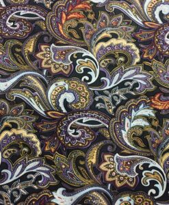 printed cotton fabric multicolored Paisley