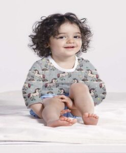 Хлопковая ткань звездного единорога