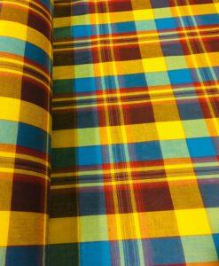 Tissu coton madras 056