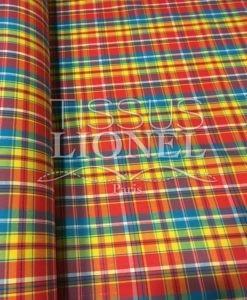 Tissu coton madras 072
