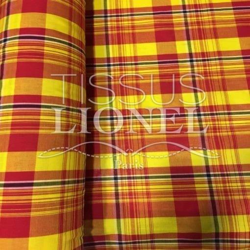 Tissu coton madras 075