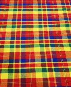 Tissu coton madras 080