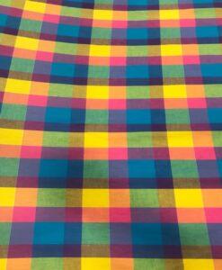 Tissu coton madras 083