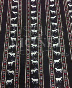 Navy Hirsch Muster gedruckt Baumwollgewebe
