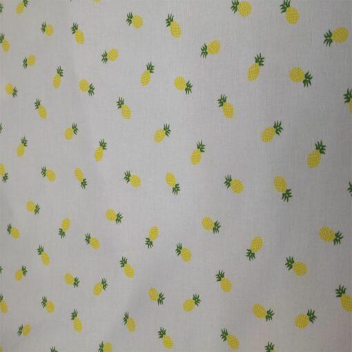 Tissu coton milleraies ananas jaune