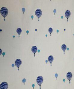 Синяя хлопковая воздушная ткань