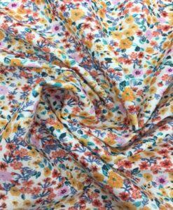 Tissu coton motif fleuris modern