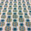 Tissu coton motif imprimé ananas beige