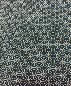 geometrisch patroon bedrukt katoen donkerblauwe kubus