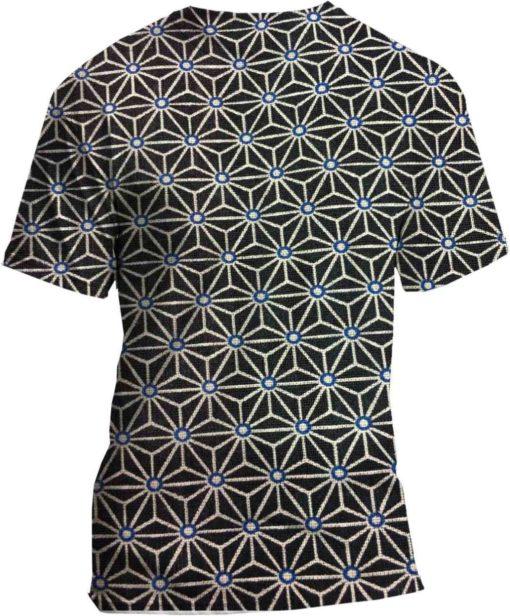 Tissu coton motif imprimé cube géométriques noir