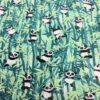 panda motif printed cotton fabric