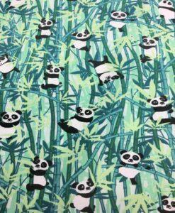 панда мотив ситец ткань