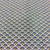 Tissu coton motif imprime Paon bleu et or