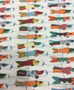 Tissu coton motif imprimé Poisson
