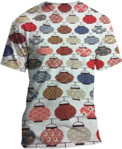 pattern printed cotton fabric Japanese teapot
