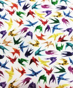 Tela de algodón origami