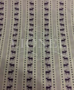 tessuto di cotone stampato motivo cervi viola