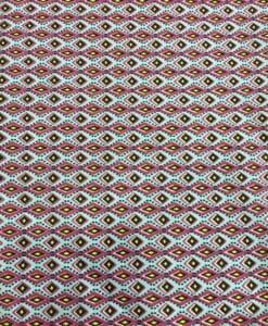 Tissu coton petit wax turquoise