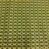 Tissu coton petit wax vert anis