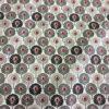Tissu coton plumes gris