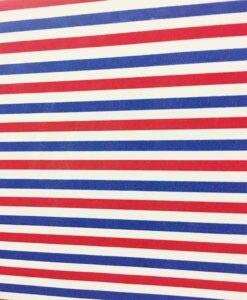 Blauw wit rode polyester katoenen stof