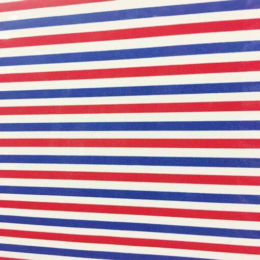 Tissu coton polyester bleu blanc rouge